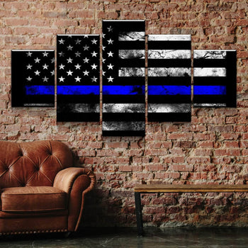 Thin Blue Line Canvas Set