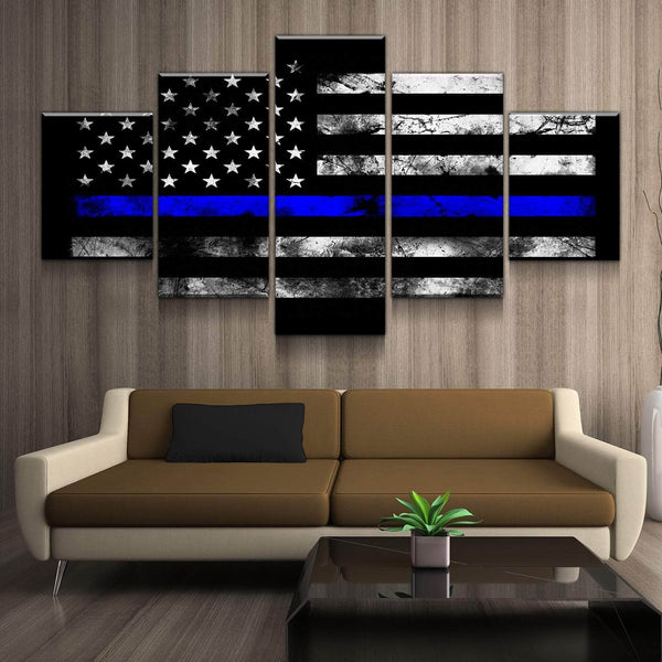 Thin Blue Line Canvas Set Canvas Freaks