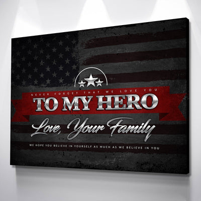 Thin Red Line Hero Canvas Set