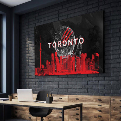 Toronto Basketball Canvas Set