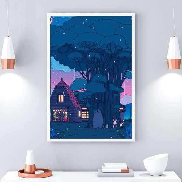 Totoro Canvas Set