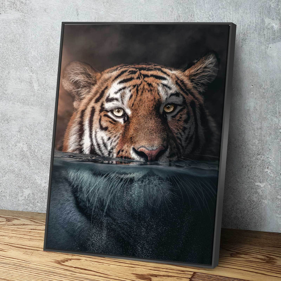 Tiger Underwater Canvas Set