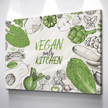 Vegan's Kitchen Canvas Set