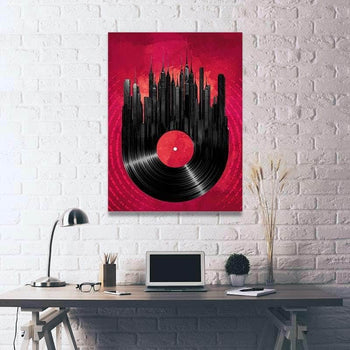 Vinyl Skyline Canvas Set