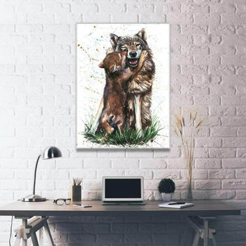 Father Wolf and Son Canvas Set