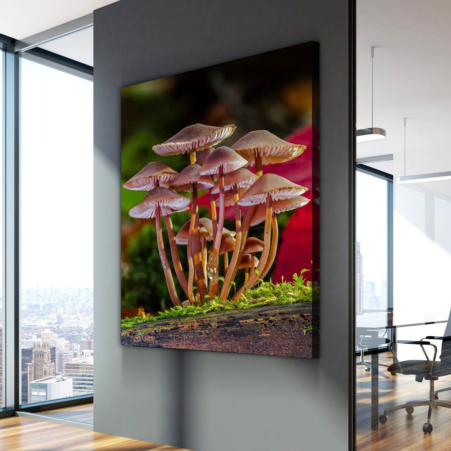 Vertical Retro Shrooms Canvas Set