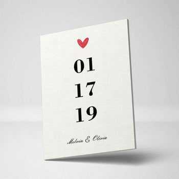 A Date to Remember Custom Canvas Set