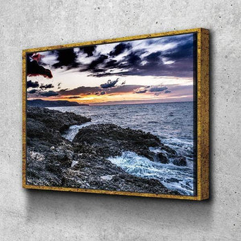 Waves and Sunset Canvas Set