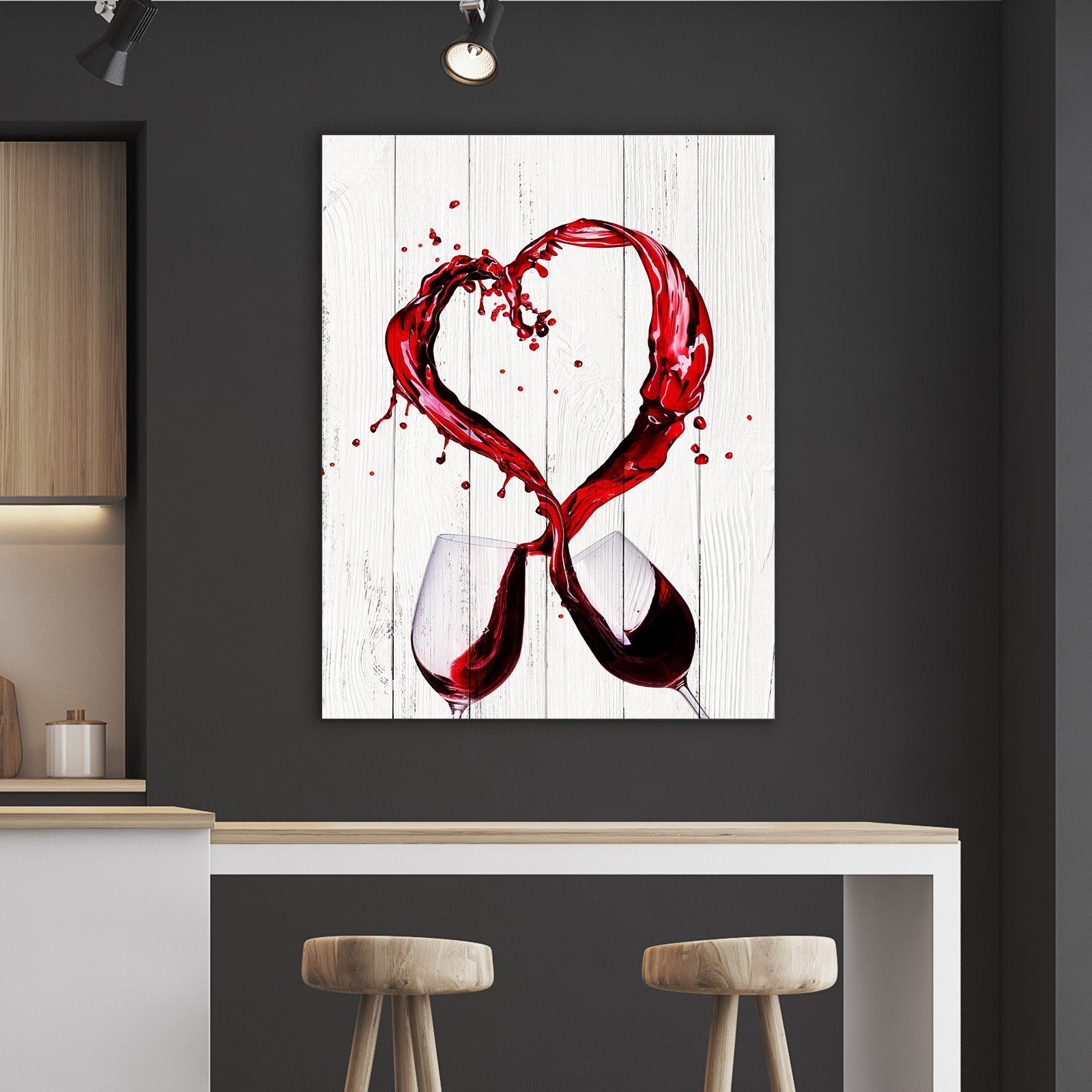 wine heart kitchen and dining room wall decor canvas set canvas freaks. Black Bedroom Furniture Sets. Home Design Ideas