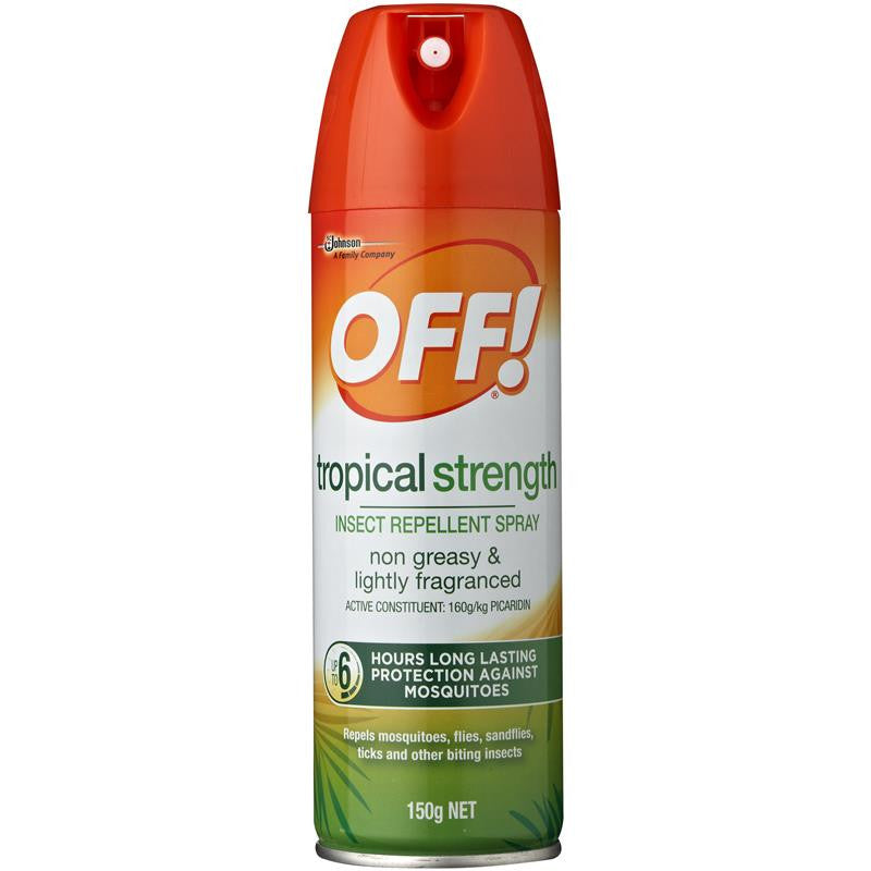 OFF! INSECT REPELLENT AEROSOL SPRAY Tropical Strength 150g ...