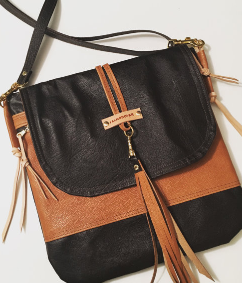 Brown and Tan Jalmodovar Crossbody Leather Bag - That Shuu Girl Boutique LLC