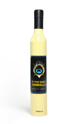 Yellow Wine Bottle umbrella, umbrella, That Shuu Girl Boutique LLC  - That Shuu Girl Boutique LLC