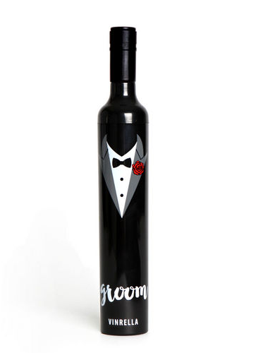 Groom Wine Bottle umbrella, umbrella, That Shuu Girl Boutique LLC  - That Shuu Girl Boutique LLC