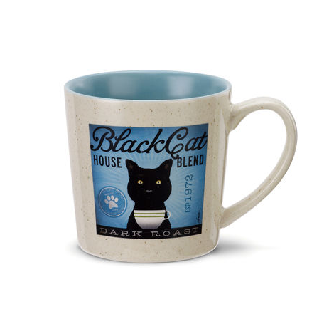 Black Cat Coffee Mug, Mug, That Shuu Girl Boutique LLC  - That Shuu Girl Boutique LLC