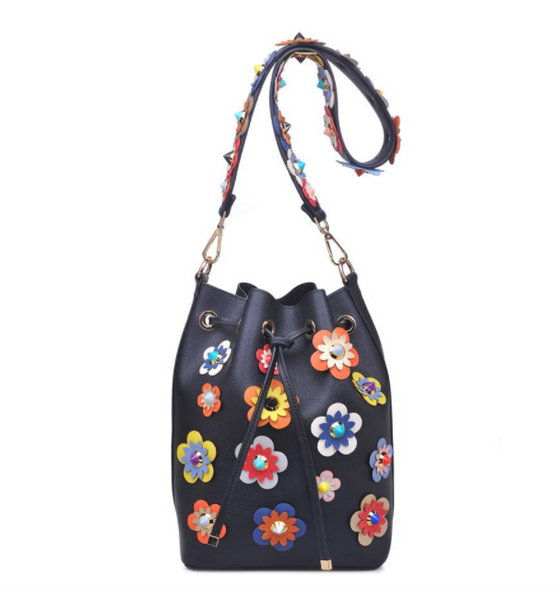 Audrina Floral Bucket Bag, Purse, That Shuu Girl Boutique LLC  - That Shuu Girl Boutique LLC