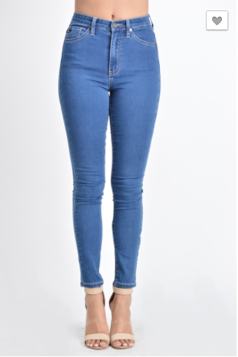 Denim Highrise Skinny Jeans, Pants, That Shuu Girl Boutique LLC  - That Shuu Girl Boutique LLC