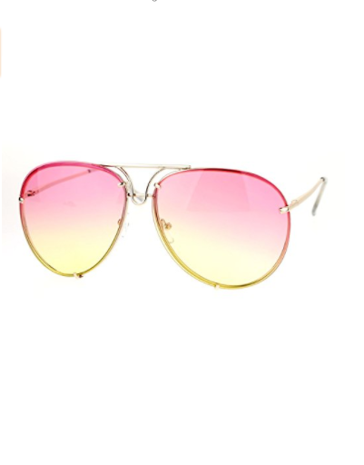 Pink Ombre Oversized Round Aviator Sunglasses, Glasses, That Shuu Girl Boutique LLC  - That Shuu Girl Boutique LLC