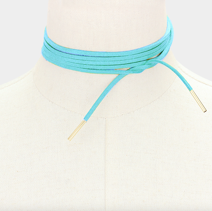 Aqua Choker, Choker, That Shuu Girl Boutique LLC  - That Shuu Girl Boutique LLC