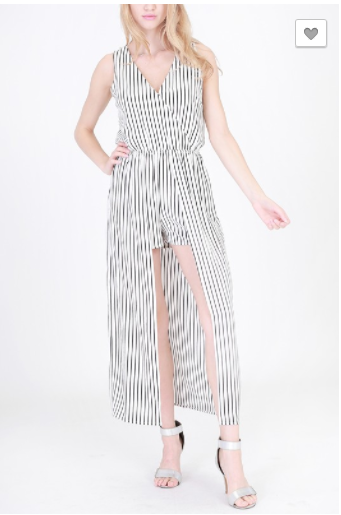Black and white Stripped Romper, Jumpsuit, That Shuu Girl Boutique LLC  - That Shuu Girl Boutique LLC