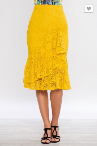Yellow Mellow Lace Skirt