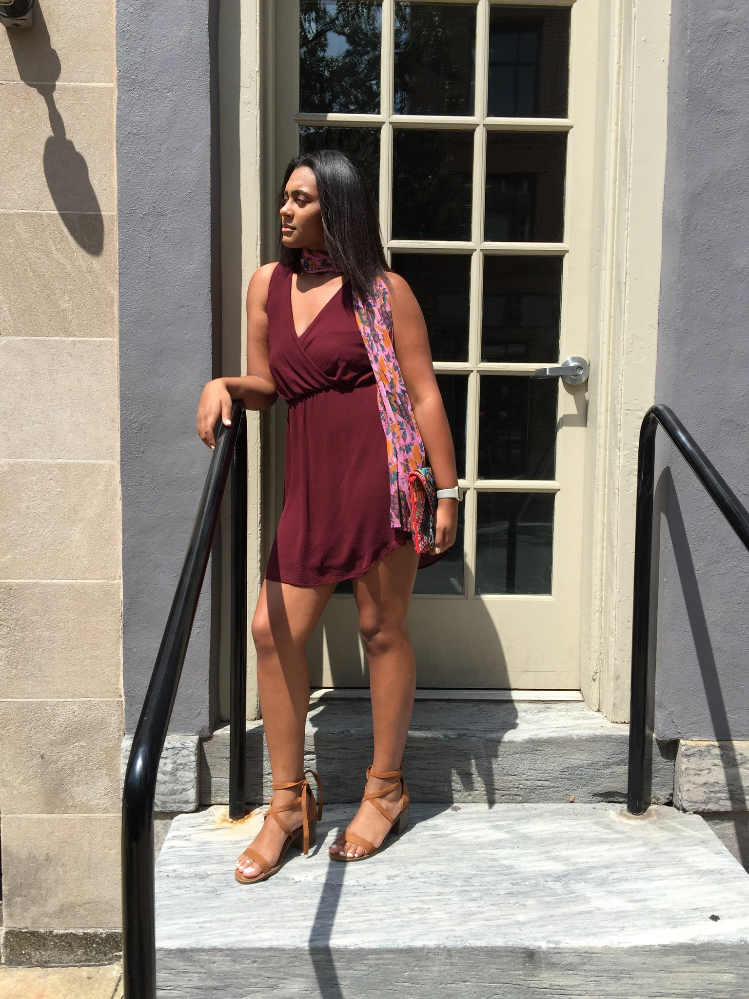 Maroon Lilly Dress