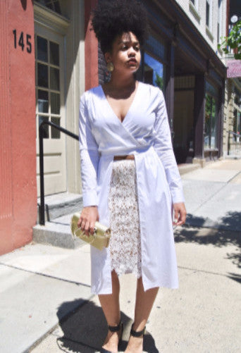 Classic White Blouse With a Twist