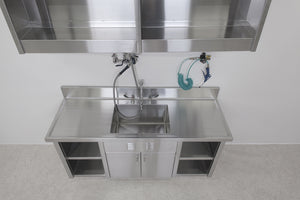 Fixed-Height, Medical-Grade Stainless Steel Sinks