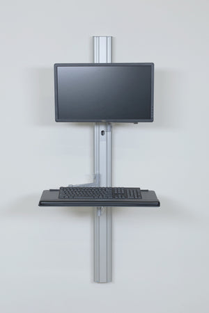 The Apollo Desk-to-Ceiling Power Pole for Medical Facility