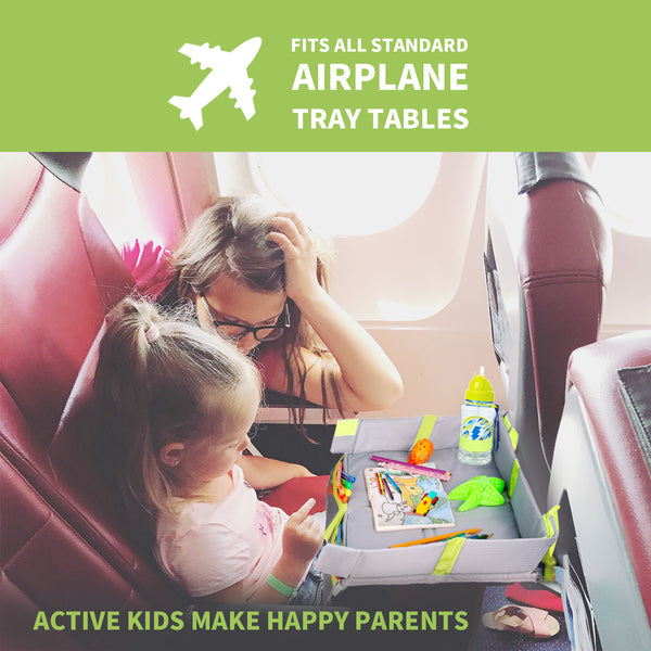 Foldable Kids Travel Tray for Plane Travel Activities and Games - Use on Airplane/Train Tray Table, Toddlers and Children