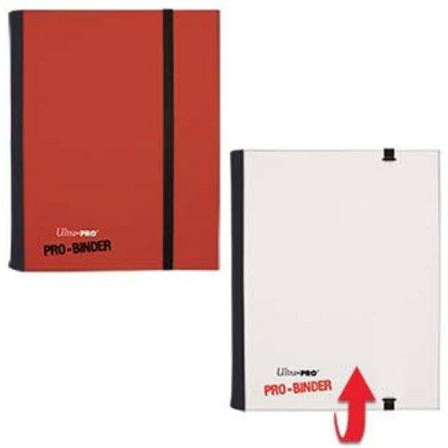Binder - Ultra Pro 4-Pocket Flip Pro Binder (White & Red)