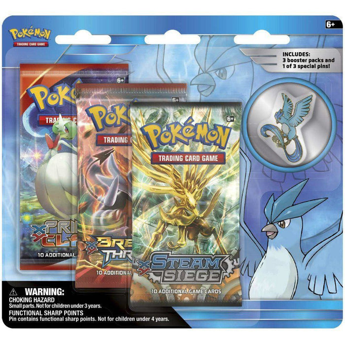 Booster Packs - Pokemon Articuno Collector's Pin 3-Pack Blister