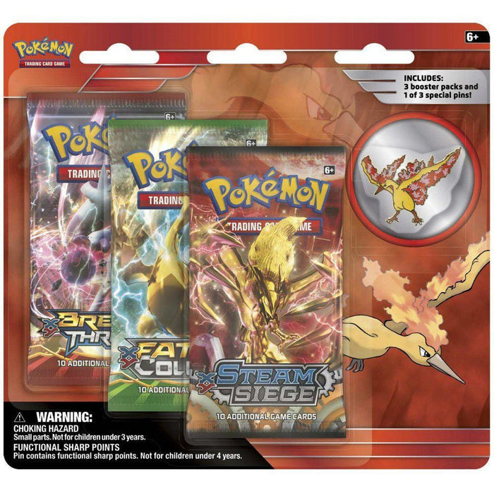 Booster Packs - Pokemon Moltres Collector's Pin 3-Pack Blister