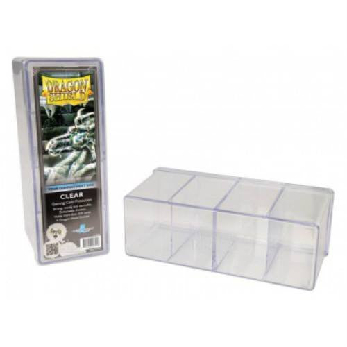 Dragon Shield - 4 Compartment Storage Box (Clear)
