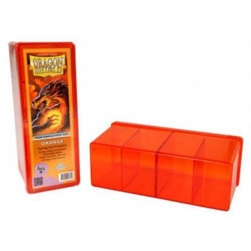 Dragon Shield - 4 Compartment Storage Box (Orange)