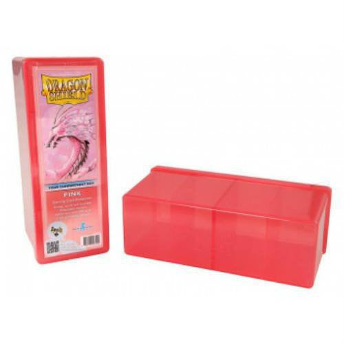 Dragon Shield - 4 Compartment Storage Box (Pink)