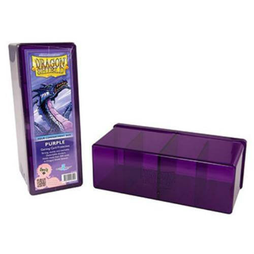 Dragon Shield - 4 Compartment Storage Box (Purple)