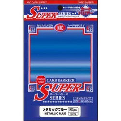 KMC Sleeves - KMC Standard Deck Protectors (80 Metallic Blue)