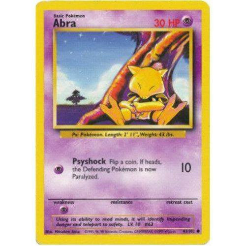 Trading Card - Abra 43/102 - Common - Base Set