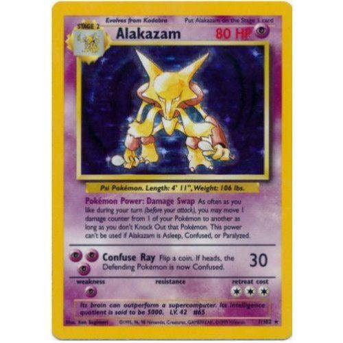 Trading Card - Alakazam 1/102 - Holo Rare - Base Set
