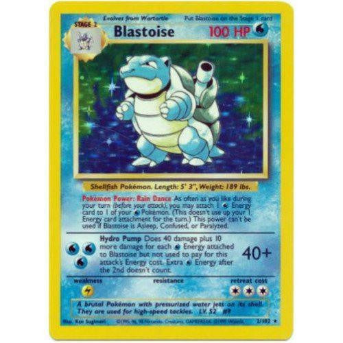 Trading Card - Blastoise 2/102 - Holo Rare - Base Set