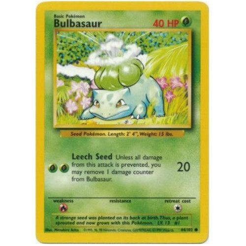Trading Card - Bulbasaur 44/102 - Common - Base Set