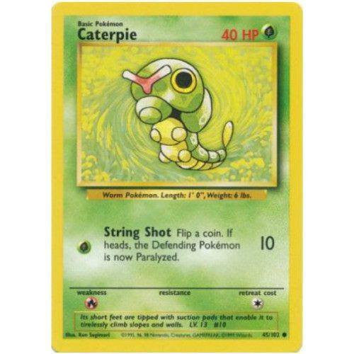 Trading Card - Caterpie 45/102 - Common - Base Set