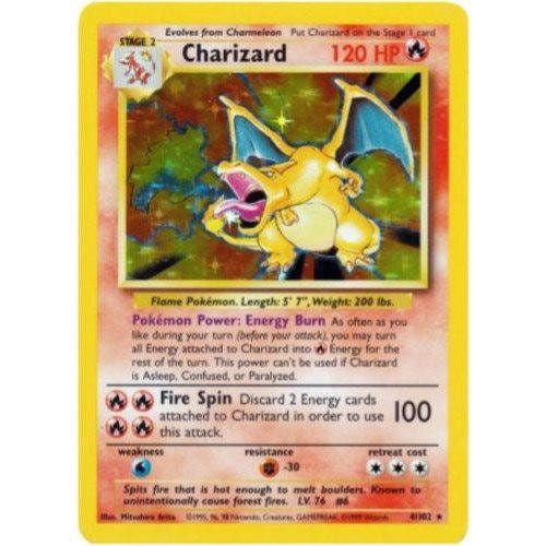 Trading Card - Charizard 4/102 - Holo Rare - Base Set