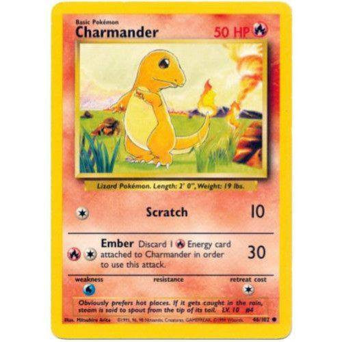 Trading Card - Charmander 46/102 - Common - Base Set