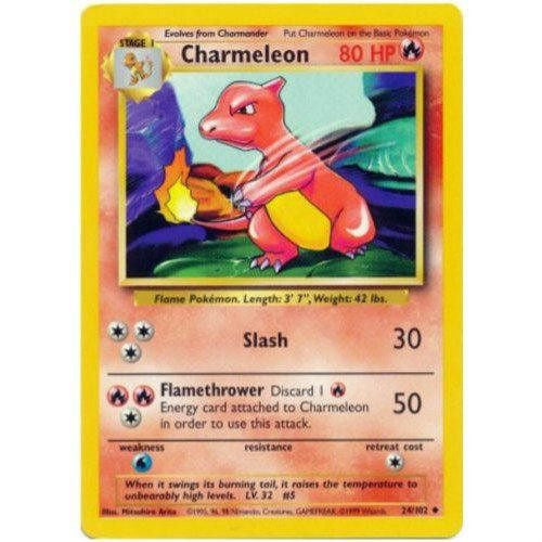 Trading Card - Charmeleon 24/102 - Uncommon - Base Set