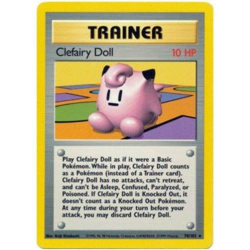 Trading Card - Clefairy Doll 70/102 - Rare - Base Set