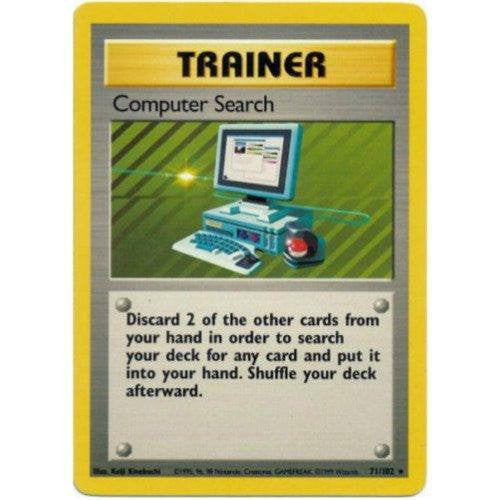 Trading Card - Computer Search 71/102 - Rare - Base Set