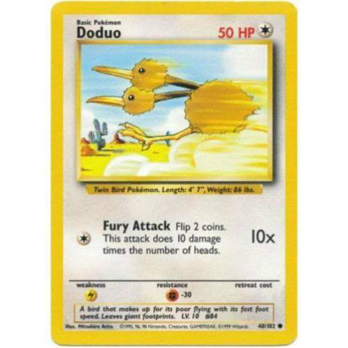 Trading Card - Doduo 48/102 - Common - Base Set