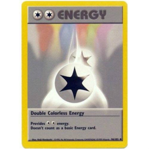 Trading Card - Double Colorless Energy 96/102 - Uncommon - Base Set