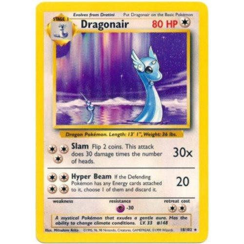 Trading Card - Dragonair 18/102 - Rare - Base Set